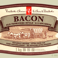 President's Choice bacon packaging