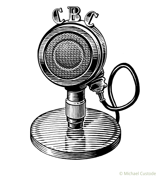 Old-fashioned radio microphone